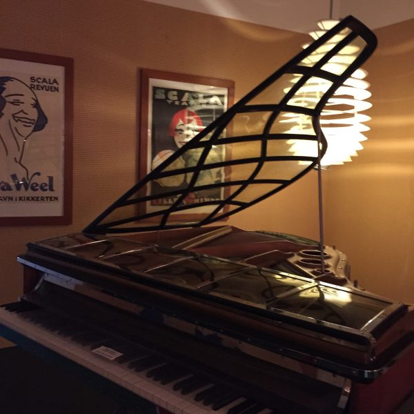 Piano with celluloid lid