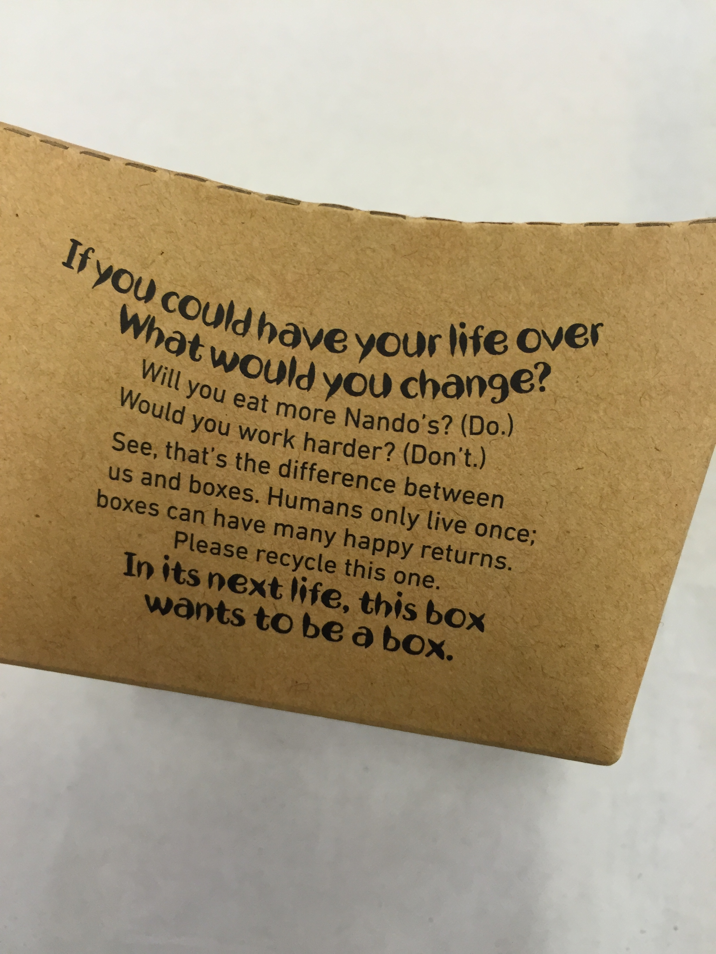 Copy from Nando's that's engaging without being annoying