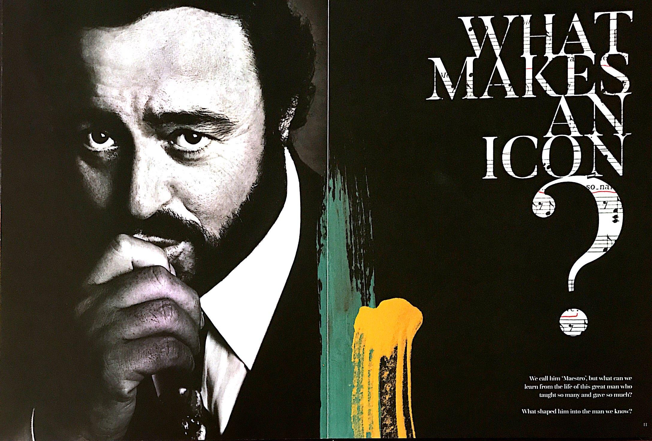 Picture of Luciano Pavarotti, the famous Italian tenor
