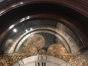 Grandfather clock on display at the Foundling Museum