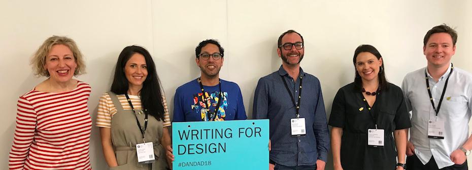 D&AD Writing for Design copywriting panel 2018